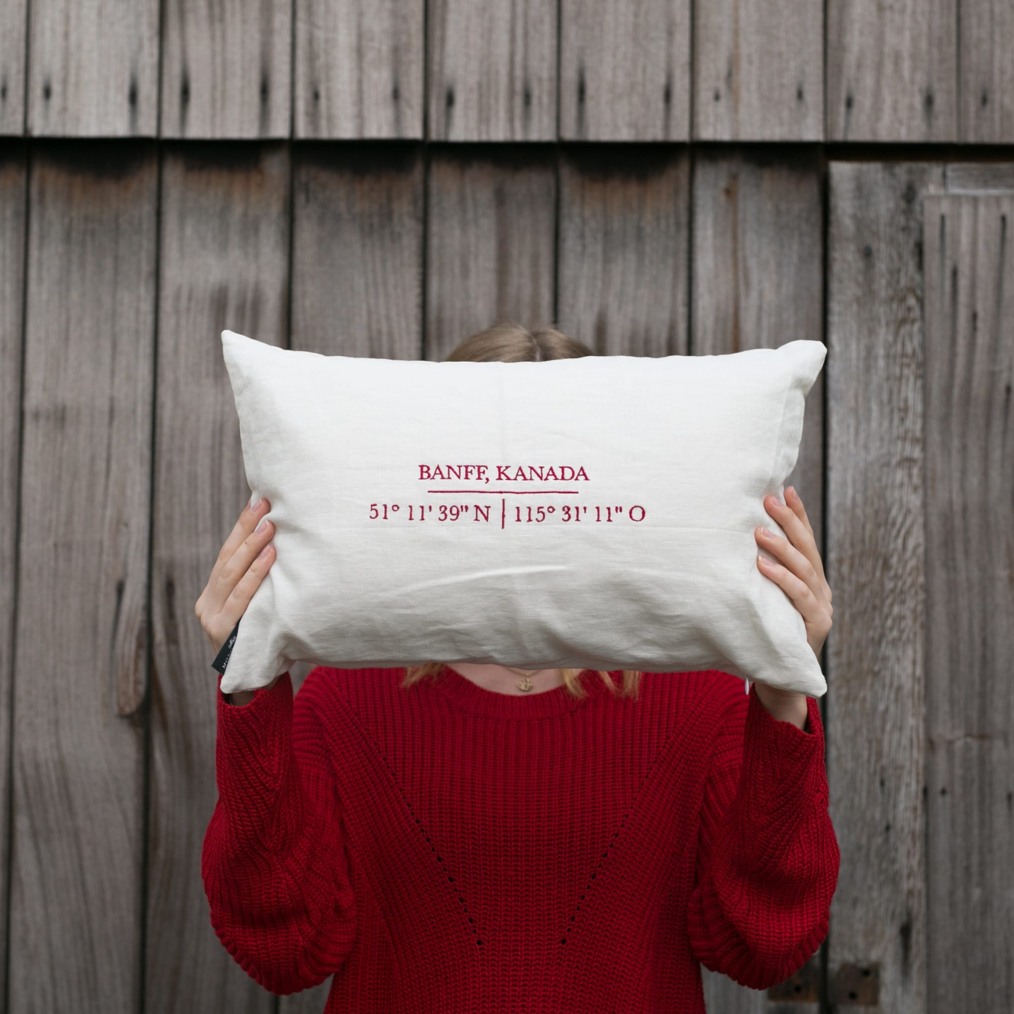 my favorite place pillow case with embroidery